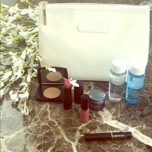 Lancôme makeup, cosmetic bag and contents